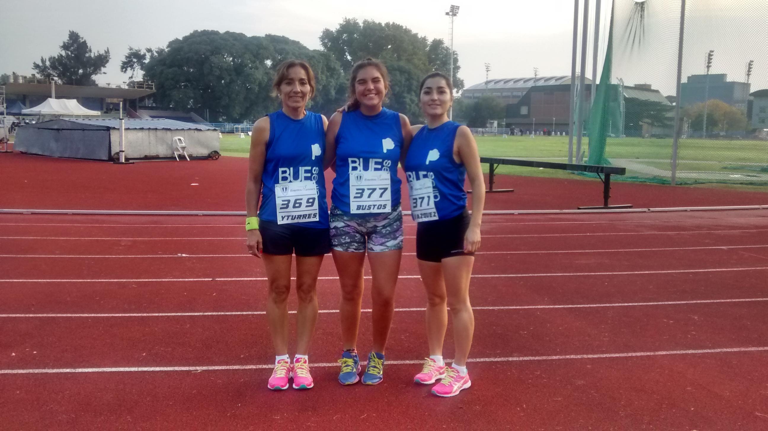 Las Tres participantes Tandilenses en Marcha 10.000 metros.