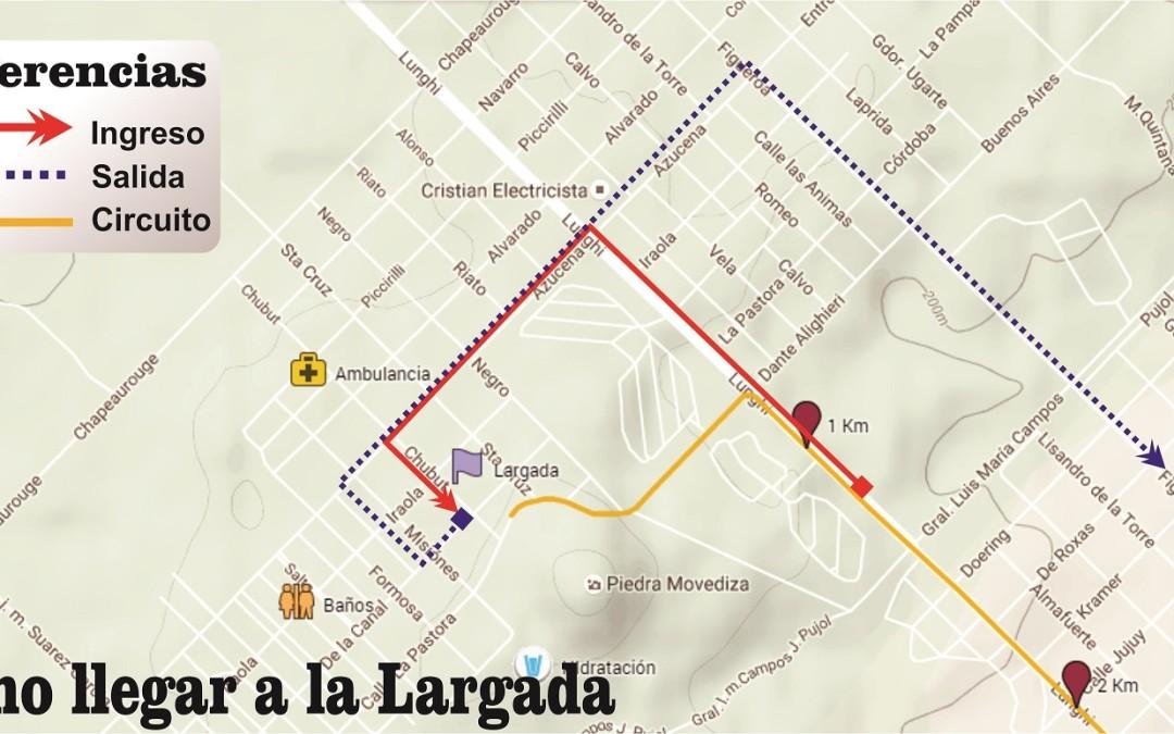Como acceder a la línea de Largada y Llegada de Tandilia 2017