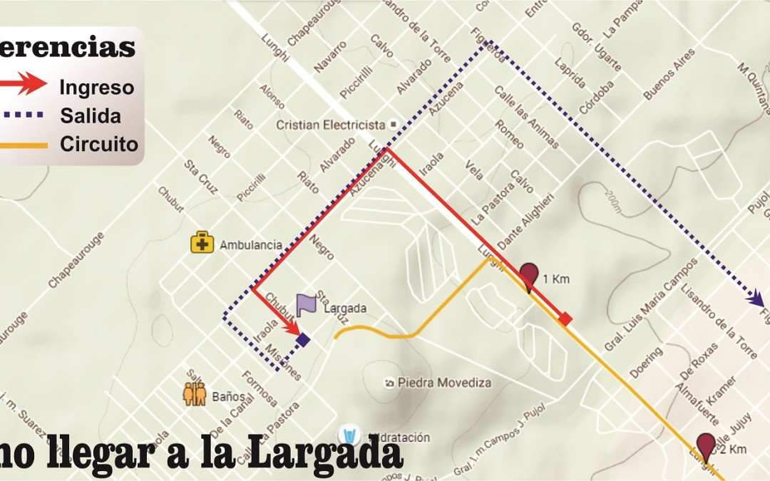Como acceder a la línea de Largada y Llegada de Tandilia 2019