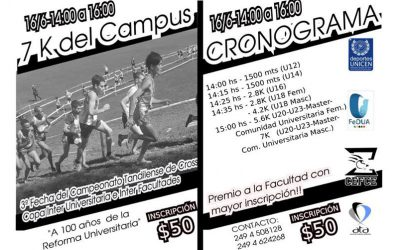 3º Fecha Campeonato Local de Cross 2018, Copa Inter-facultades e Inter-universidades