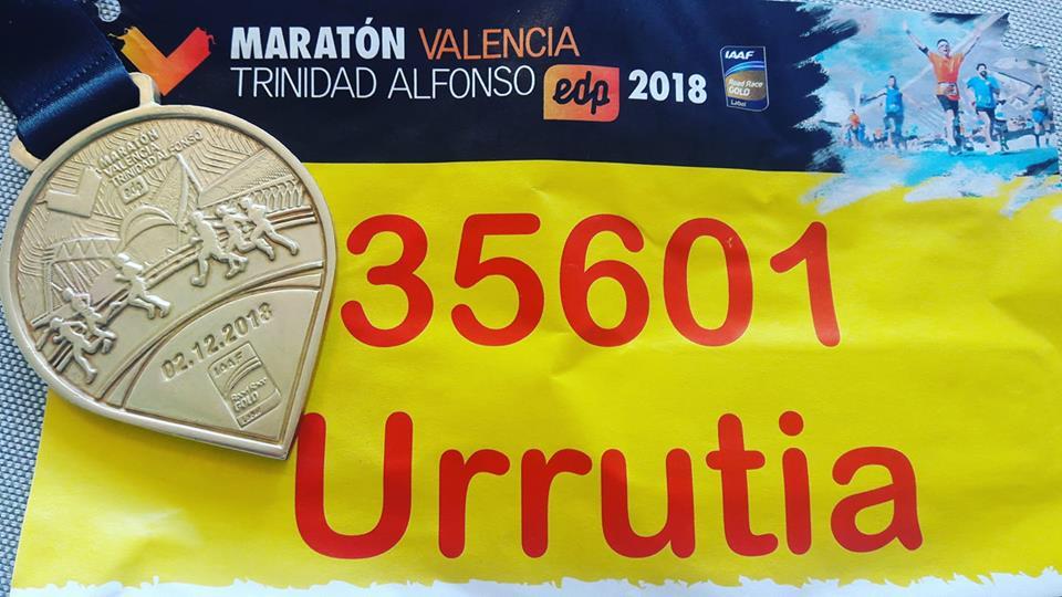 Muy buen resultado de Lujan Urrutia esta mañana en el Maratón de Valencia