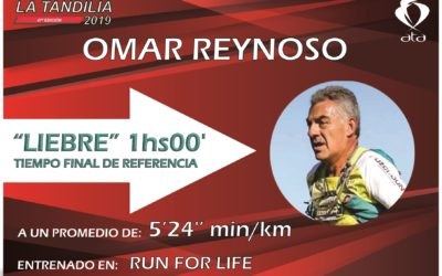 "La liebre de 1:00 hs. es ""run for life"""